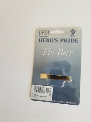 """Tie Bar For Uniform 2"""" Gold Plated Clip Sheriff Police Military Security New NIP"""