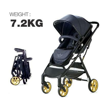Allis® City Baby 2in1 Pram Pushchair Buggy Travel Ultralight Stroller - Denim