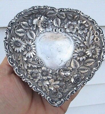 Jacobi & Jenkins Bowl Tray- Antique Baltimore Repousse in form of a Heart