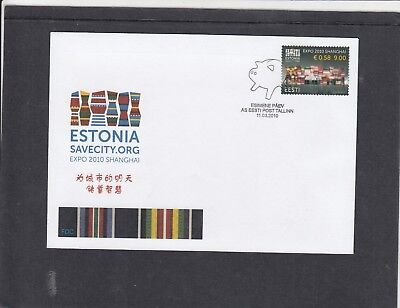 Estonia  2010 EXPO 2010 Shanghai First Day Cover FDC Tallin spec h/s
