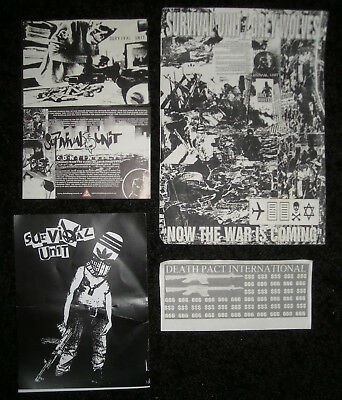 Survival Unit+Grey Wolves+Death Pact International Flyer+Sticker(Genocide Organ)