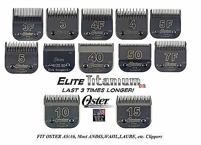 OSTER TITANIUM ELITE Cryogen-X Blade Fit A5 A6,Andis AG,Most Wahl,Laube Clippers