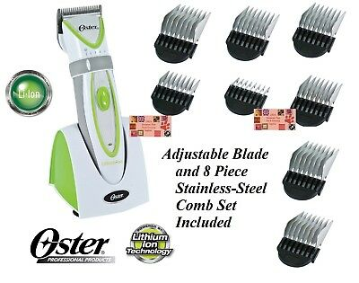 Oster JUICE Lithium Ion CORD/CORDLESS CLIPPER KIT 5in1 BLADE, 8pc Guide COMB SET