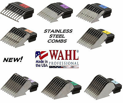 WAHL Stainless Steel Attachment GUIDE BLADE COMB FIT Most Andis,Oster A5 Clipper