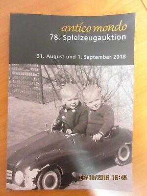 Auktionskatalog Anticomondo Spielzeug und  Reklame !!!!!! August September 2018