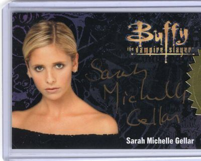 BUFFY ULTIMATE COLLECTORS SERIES 3 Sarah Michelle Gellar GOLD AUTOGRAPH  Buffy