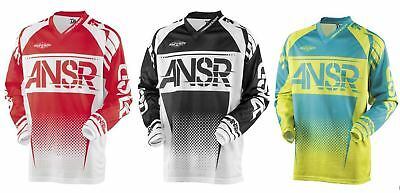 Answer Racing A17.5 Syncron Air Mens Off-Road Motorcycle Jerseys Black//White Medium