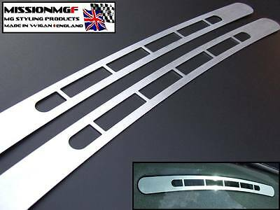Mgf & Mg Tf Mgtf Laser Cut Brushed Aluminium 2Pc Dashboard Demister Vent Covers