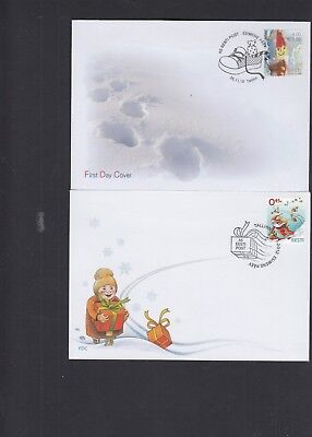 Estonia  2010 2012 Christmas First Day Cover FDC Tallinn pictorial h/s