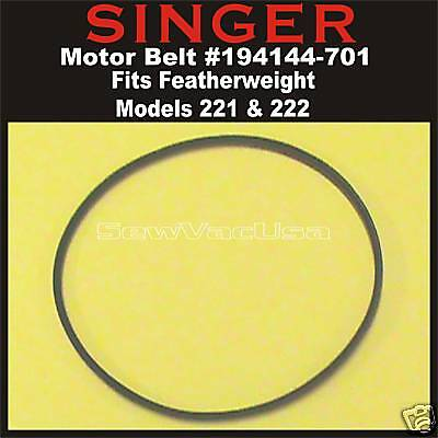 Genuine SINGER Motor Belt Fits Featherweight Models 221 222