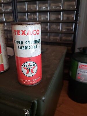 Texaco Upper Cylinder Lubricant Can Vintage Full