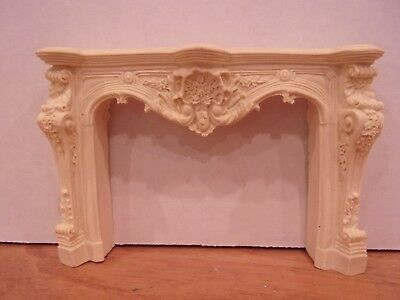 Dollhouse Miniature Fireplace Mantle Victorian Antique  Paintable Stainable!