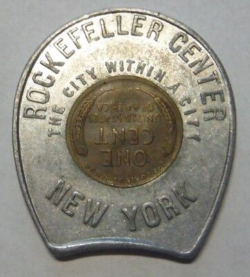 1946 Rockefeller Center New York City / City Within A City Encased Lincoln Cent