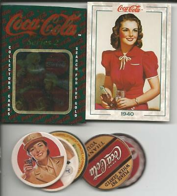 1994 COCA COLA SERIES 2 100 CARD SET  + 8 POG Set