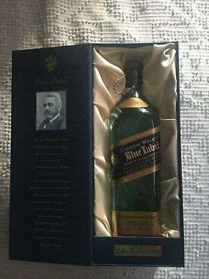 Johnny Walker Blue Label 750ml bottle, Gift Box rare low serial number, book.