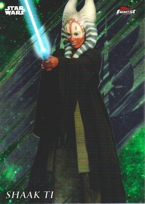 2018 Star Wars Topps Finest Trading Card #85 Shaak Ti