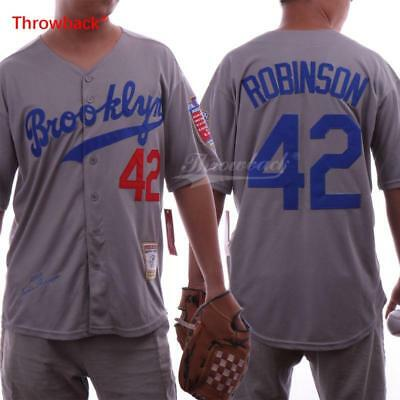 wholesale dealer 3b5c2 ca8e5 JERSEY MEN'S BROOKLYN 42 Jackie Robinson Jersey Baseball ...