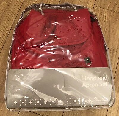 Silver Cross Colour Pack In Red Fits The Pioneer / Wayfarer. Hood And Foot Muff