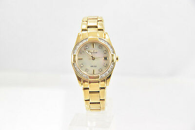 "Ladies Citizen EW1822-52D Eco-Drive REGENT Gold-Tone S.S. Diamond 5.75"" Watch"