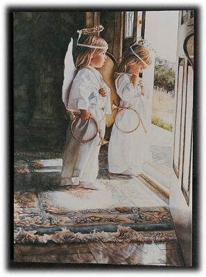Vintage Crown Point Little Angels Steve Hanks Wishing You Holidays Moments Card