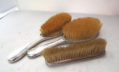 Antique Sterling Silver 1900's Brush Set/ Engraved/Hallmarked/Chester/Birm - H62