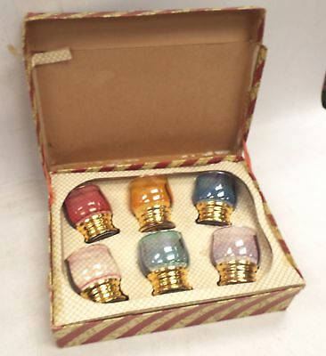 Vintage Collection of Coloured Glasses In Original Display Box  - T06