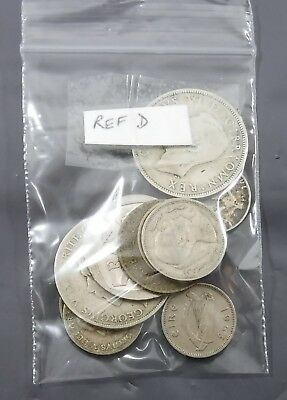 Job Lot Bundle of 10 GB & World Mixed Coins including 5 Silver (Ref D)