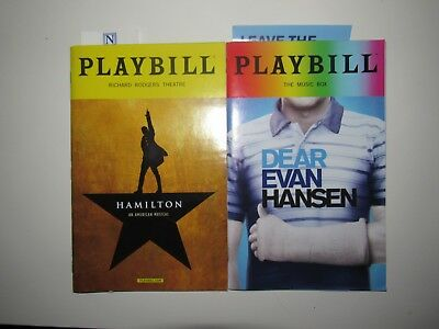 Pride Dear Evan Hansen and Hamilton playbills *MINT, FREE SHIP, BOTH PLAYBILLS*
