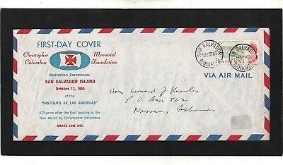 Bahamas - 1965 - Columbus - First Day Cover - With San Salvador Cds Postmarks