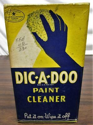1930's VINTAGE 1935 NOS DIC-A-DOO PAINT CLEANER BOX