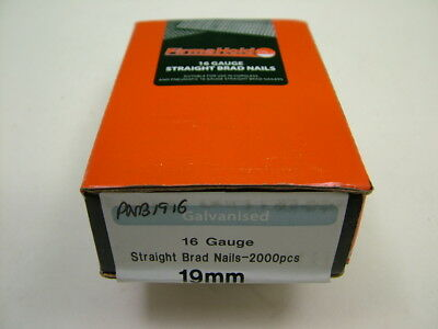 2nd fix collated straight brad nails Firmahold brand 16 gauge 19mm box of 2000