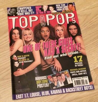 Top Of The Pops Totp Magazine Issue 23 January 1997 Spice Girls