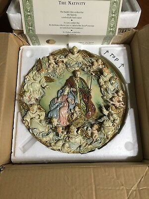 Franklin Mint Vatican Nativity Angel Limited Edition Plate No. P03861.