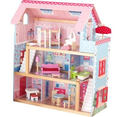 KidKraft Chelsea  Dollhouse Pretend Play House Cottage w/ Furniture