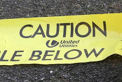 5m UNITED UTILITIES LANCASHIRE CAUTION BURIED CABLE BELOW WARNING MARKING TAPE