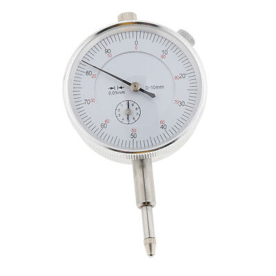 Dial Indicator with Pointer Lug Back Metric Range 0-10mm, 0.01mm Resolusion