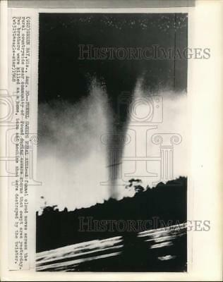 1968 Press Photo A view of a twister on the horizon, Green Bay, Wisconsin