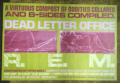 R.E.M. Dead Letter Office Vintage Promo Record Poster 1987 24x36