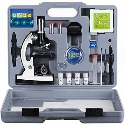 52pc 120X-1200X Starter Compound Microscope Science Kit for Kids New