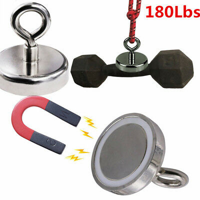 Fishing Magnet Strong Hot Neodymium Round Thick Eyebolt Treasure Hunt Pull Force