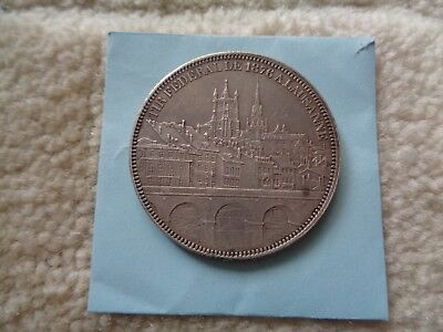 1876 Switzerland Lausanne Shooting Thaler 5 Francs silver coin
