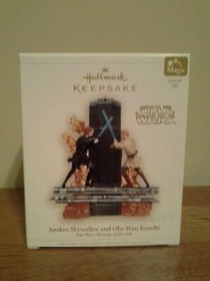 Hallmark Keepsake Ornament Star Wars Anakin Skywalker and Obi-Wan Kenobi ROTS