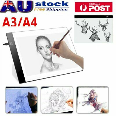 A4/A3 LED Tracing Light Box Board Drawing Copy Pad Table Paint Stencil Display