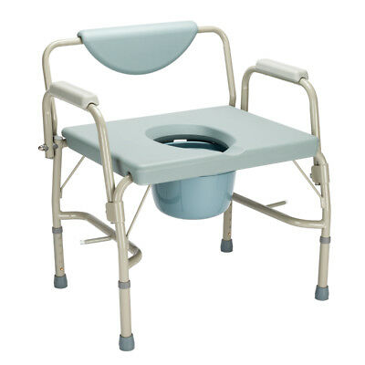 Portable Bedside 3-in-One Commode Toilet Safety Frame Support Shower Seat New