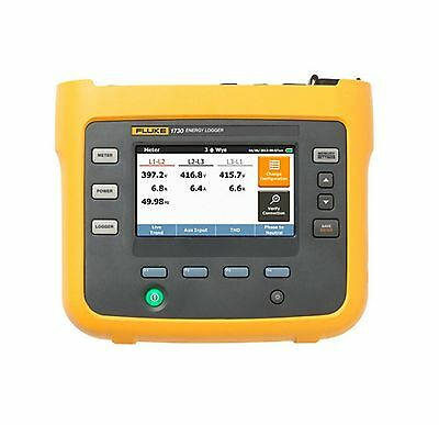 Fluke 1730 Three-Phase Electrical Energy Logger W Flexi Probes New