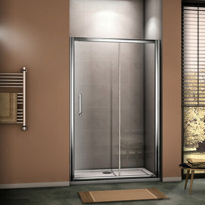 8mm Luxury Sliding Shower Door Enclosure Chrome Cubicle Easy Clean Glass Screen