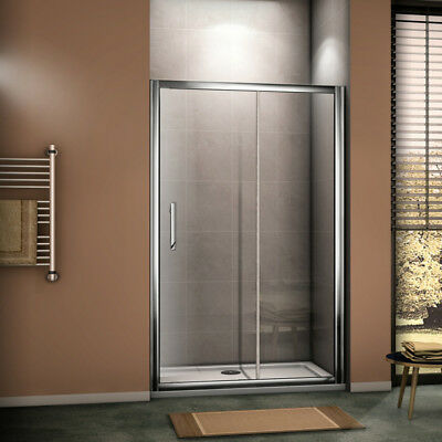AICA Luxury Sliding Shower Door Enclosure Chrome Cubicle EasyClean Glass Screen