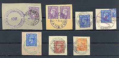 Poland 1945/46   Ww Ii  7 Spec Postmarks  English  Polish Army  In Britain @4