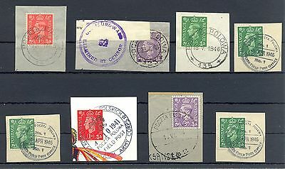 Poland 1941/46   Ww Ii  8 Spec Postmarks On English  Polish Army  In Britain @9