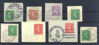 Poland 1943/46   Ww Ii  8 Spec Postmarks On English  Polish Army  In Britain @8